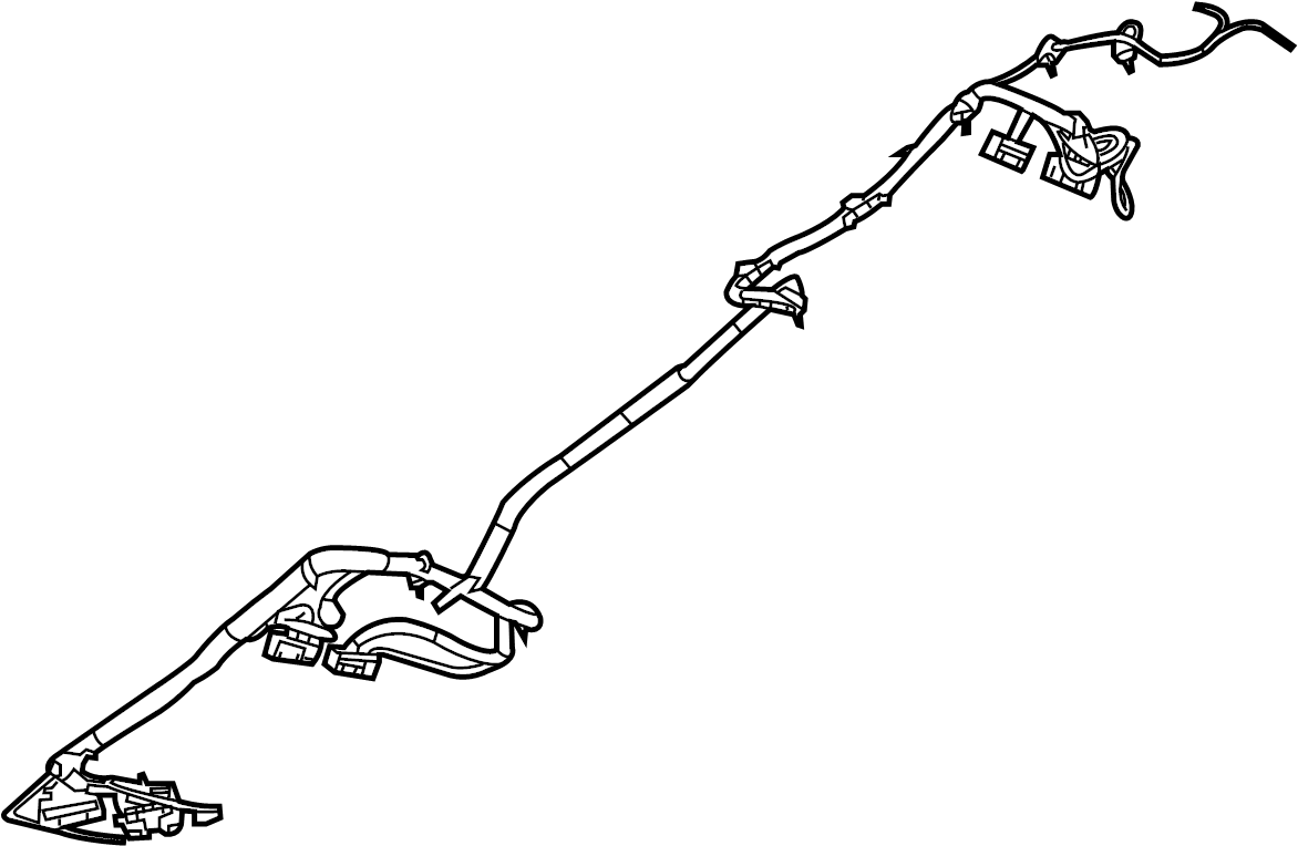 2012 volkswagen routan sel premium wire harness  center w